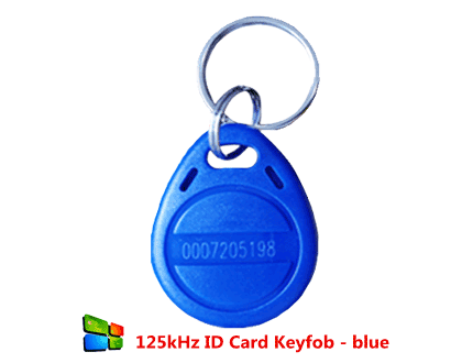 125kHz ID Card Keyfob - blue